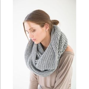Infinity scarf oversized grey perfect for winter